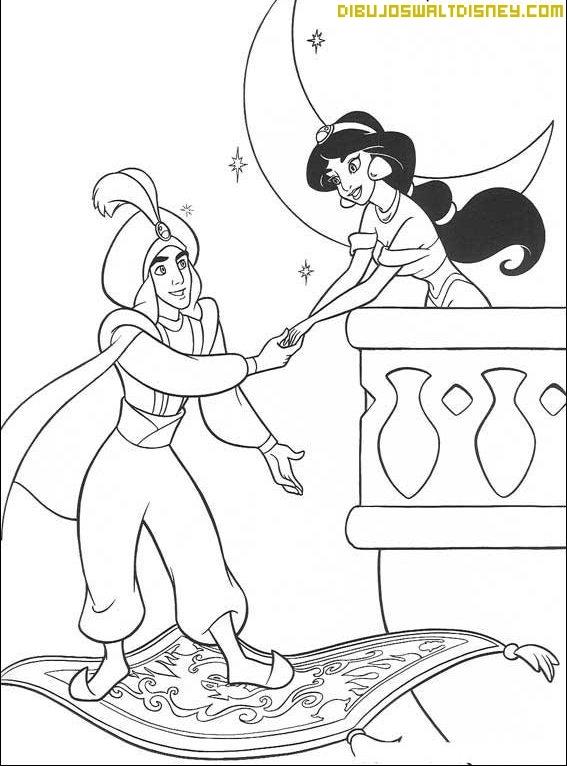 Aladdín va a visitar a Jasmine