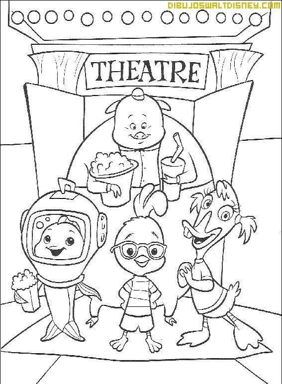 movie theatre coloring pages - photo#36