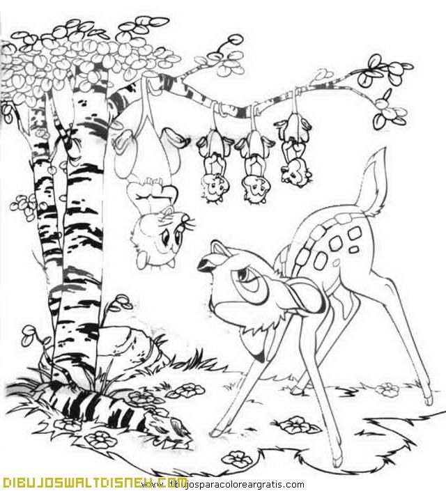 Bambi con sus amigos del bosque