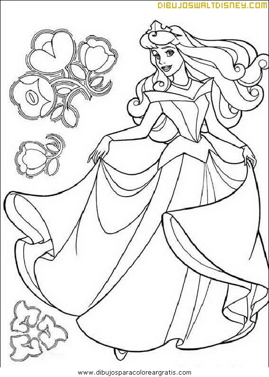 Bella Durmiente y flores