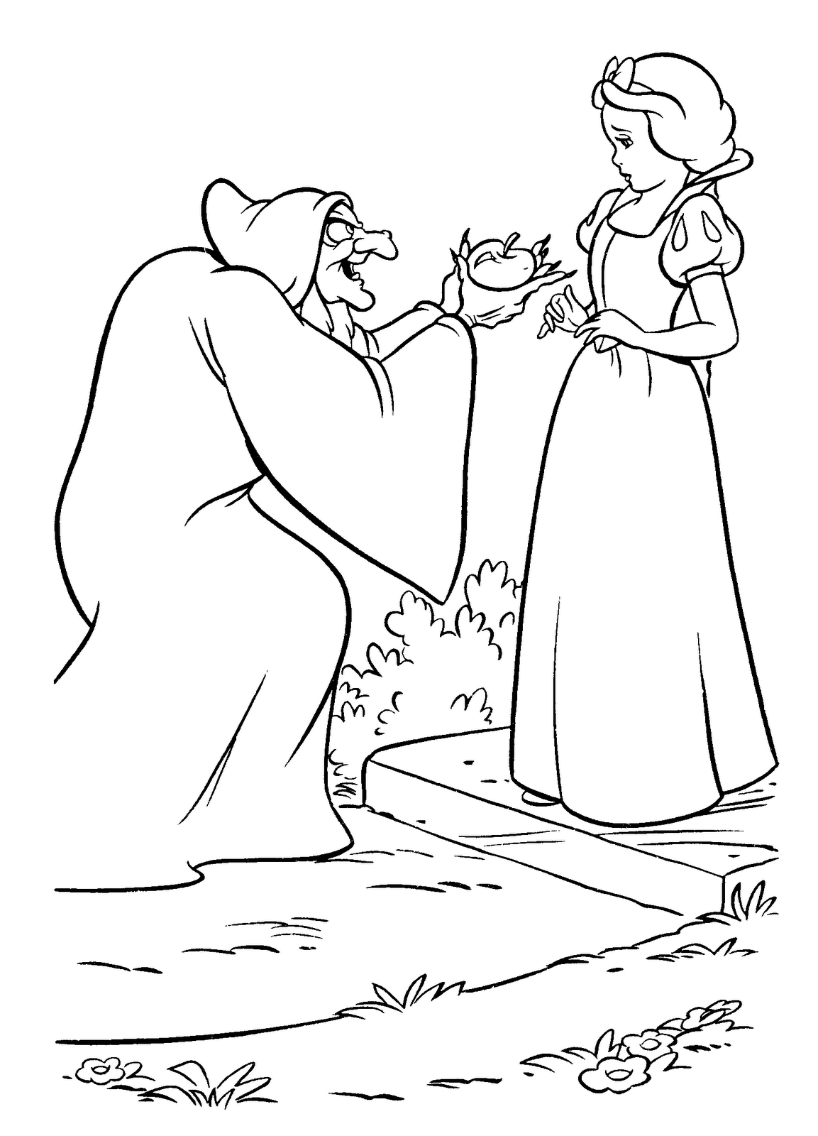 Blancanieves y la viejecilla