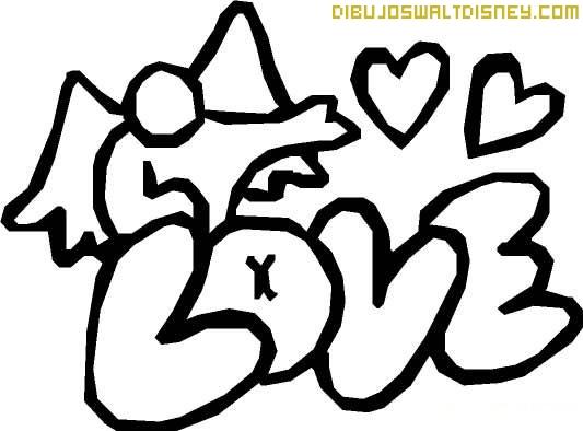 Pintar la palabra LOVE