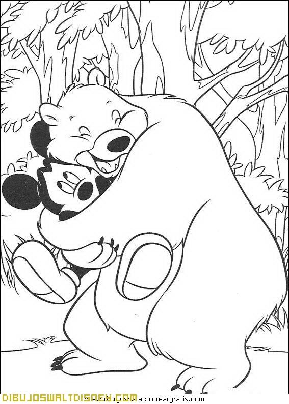 Mickey y su amigo el oso