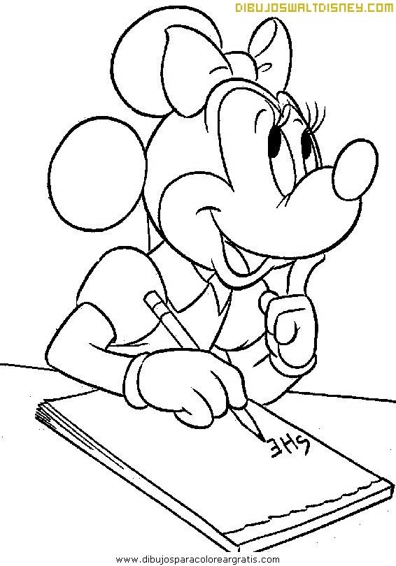 Minnie escribe una carta de amor