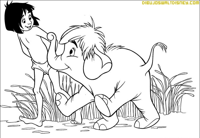 jungle book tiger coloring pages - photo#27