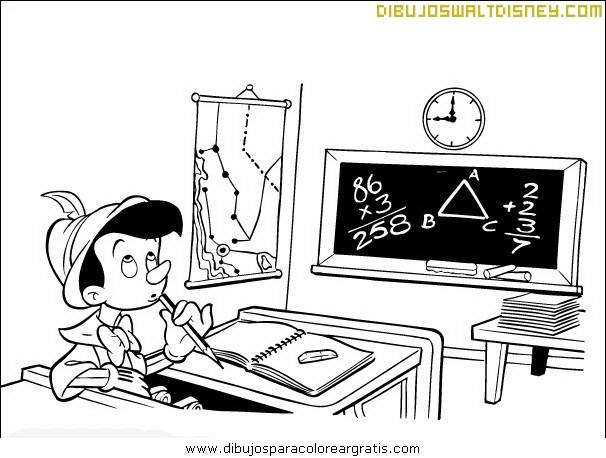 Pinocho en la escuela