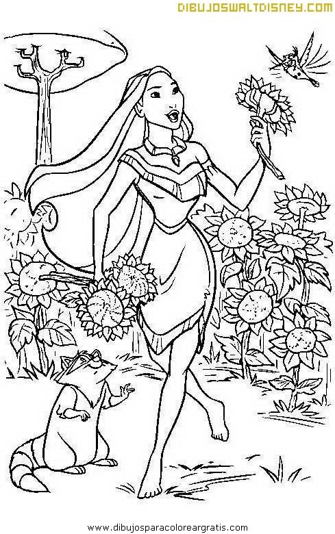 Pocahontas y los girasoles
