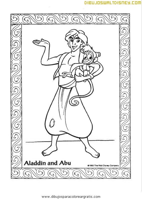 Retrato de Aladdin y Abú