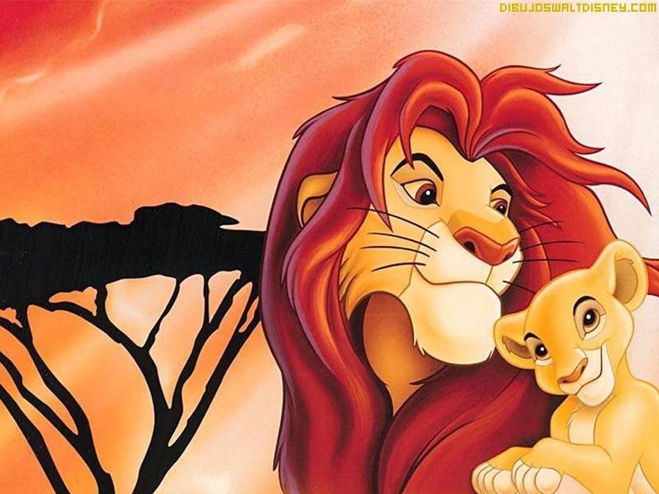 de escritorio del Rey león