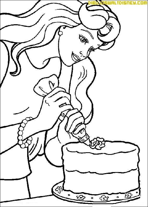 Tarta de cumpleaños de Barbie