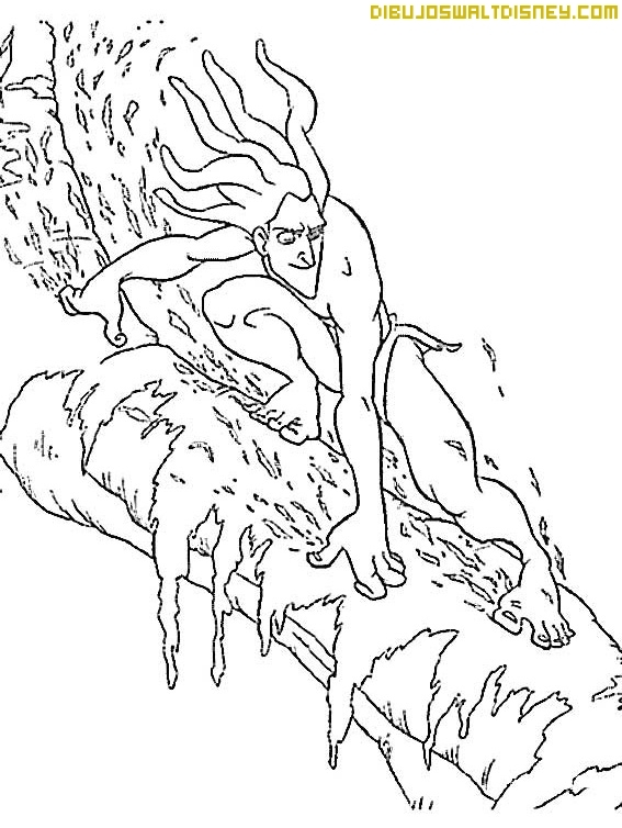 Deslizándose por los árboles con Tarzan