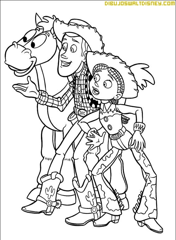 Free coloring pages of jessy para colorear