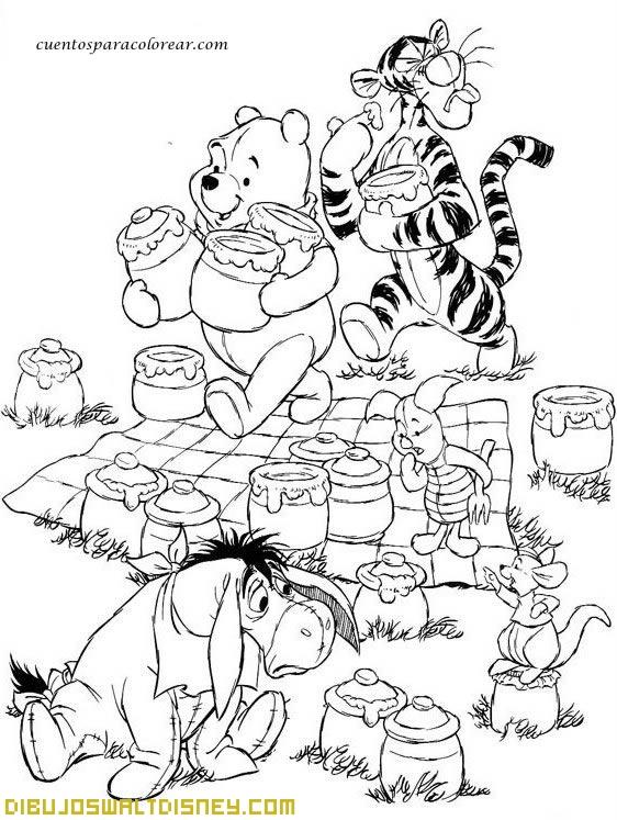 Winnie The Pooh y los tarros de miel
