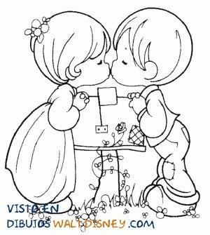 Besito entre niños