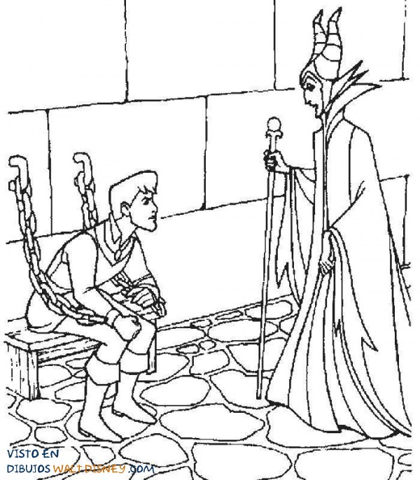 La bruja tiene preso al príncipe