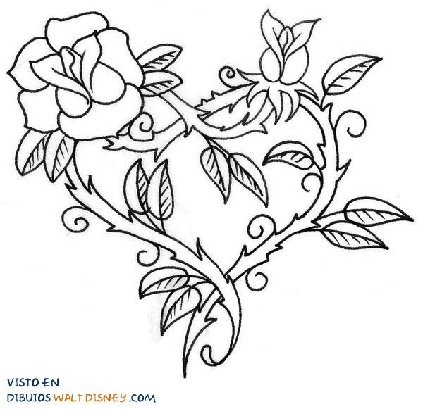 dibujos de corazon y rosas - Selo.l-ink.co