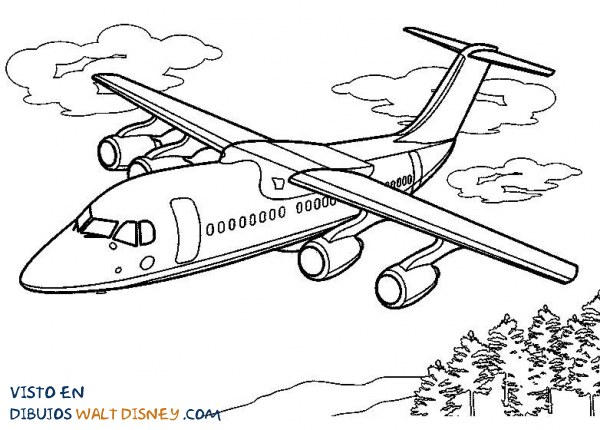 Avión sobrevolando los árboles
