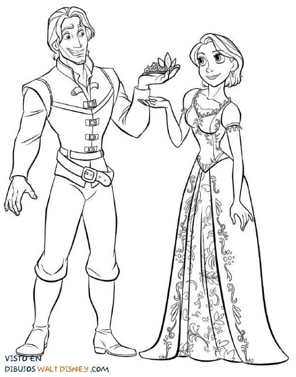 Rapunzel toma su corona