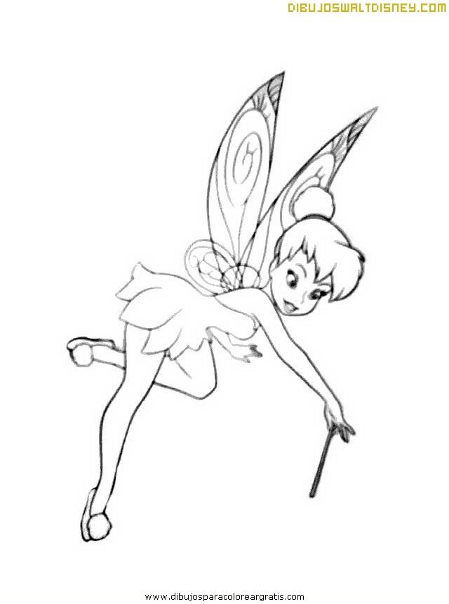 Magnífico Disney Hada Tinkerbell Para Colorear Modelo - Dibujos Para ...
