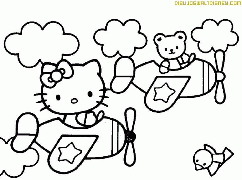Hello Kitty en avión