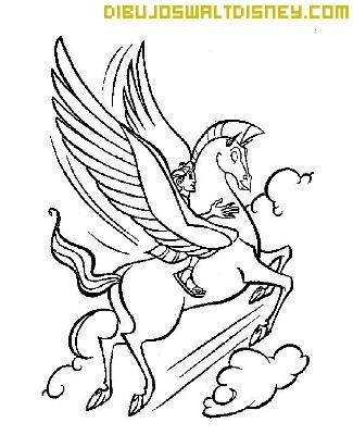 Hércules y Pegaso volando