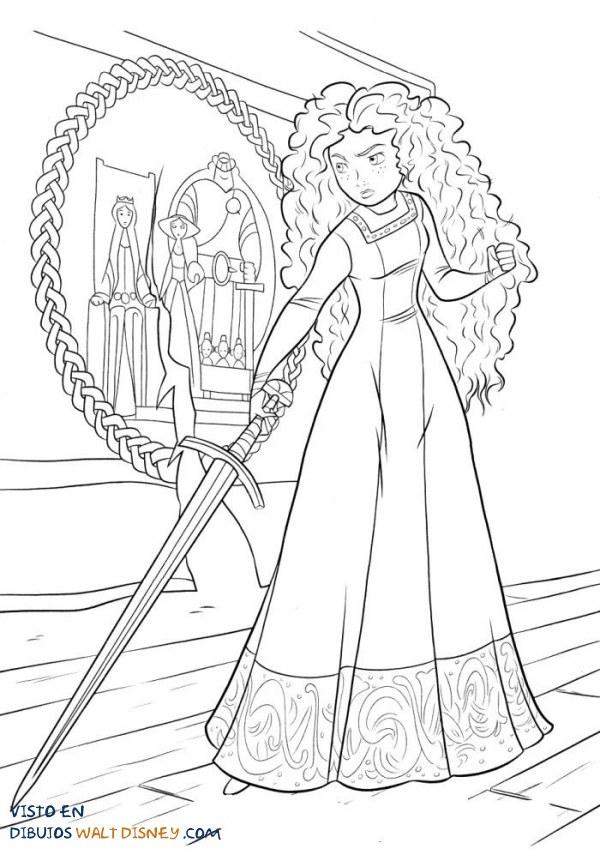 Mérida practica con la espada