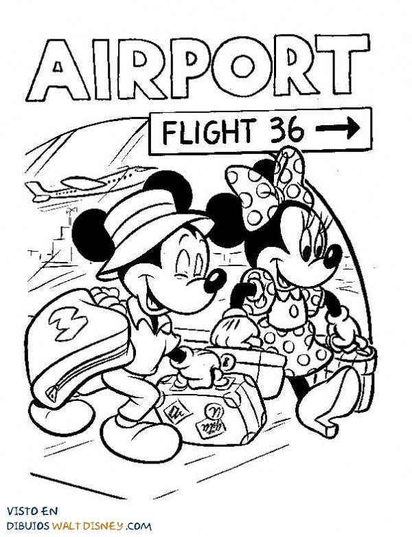 Mickey y Minnie se van de vacaciones
