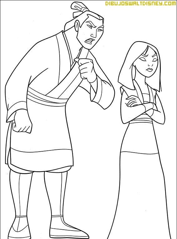 Mulán y el capitán Shang