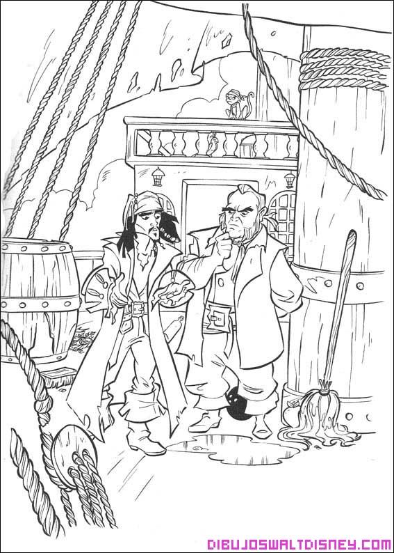 Jack sparrow en su nuevo barco