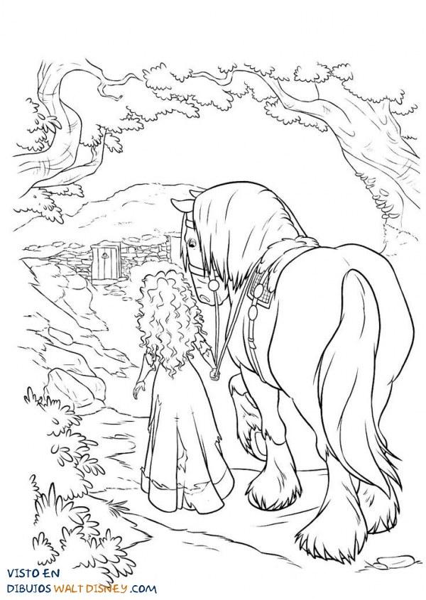 La princesa Brave se adentra en el bosque
