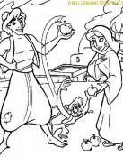 Aladin y Jasmine con el mono