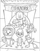 Chicken Little va al teatro con sus amigos