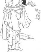 Blancanieves en brazos del Príncipe