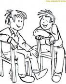 Dos amigos riendo juntos