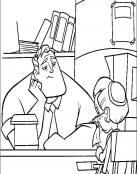 Mr. Increíble se aburre en el trabajo