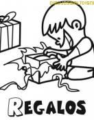 Abriendo los regalos de Reyes
