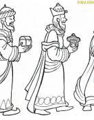 Los Reyes Magos con presentes