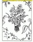 Bonito Ramo de flores para colorear