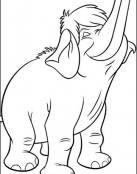 Simpático elefantito para pintar