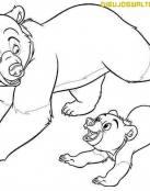 Diviértete coloreando a tus amigos osos