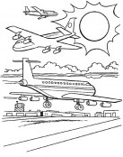 Aviones para colorear