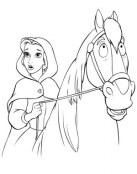 Bella montada a caballo