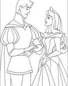 Bella Durmiente y su amado príncipe