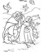 Bella y Bestia con pajarillos