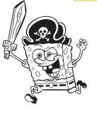 Bob Esponja disfrazado de pirata