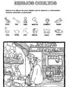 Busca los objetos en casa de Blancanieves