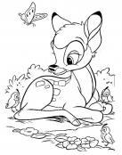 Bambi , la mariposa y el pajarillo