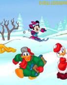 Donald y sus amigos en la nieve
