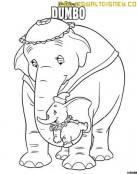 Dumbo y su mami jugando