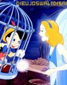 Pinocho ayudado por su madre